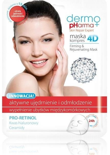 Mască de față - Dermo Pharma Skin Repair Expert Firming Rejuvenating Mask 4D — Imagine N1