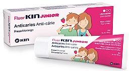 Parfumuri și produse cosmetice Gel de dinți, pentru copii - Kin Fluorkin Junior Strawberry Anticaries Gel