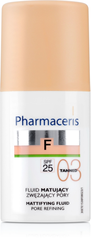 Fond de ten fluid cu efect matifiant - Pharmaceris F Mattifying Fluid Pore Refining SPF 25