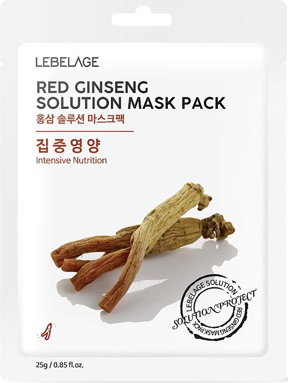 Mască din țesătură pentru față - Lebelage Red Ginseng Solution Mask