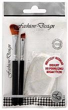 """Parfumuri și produse cosmetice Set de machiaj """"Fashion Design"""" 38174, 2 perii și burete - Top Choice (3 bucăți)"""