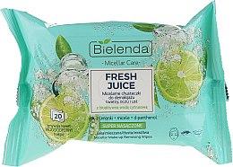 Parfumuri și produse cosmetice Șervețele micelare demachiante cu apă bioactivă de citrice - Bielenda Fresh Juice Micelar Make-up Removing Wipes