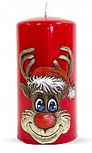 """Parfumuri și produse cosmetice Lumânare decorativă """"Rudolph"""", roșie, 7x14cm - Artman Christmas Candle Rudolf"""