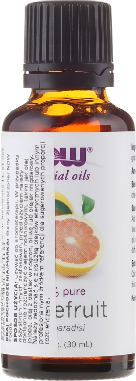 "Ulei esesnțial ""Grapefruit"" - Now Foods Grapefruit Essential Oils"