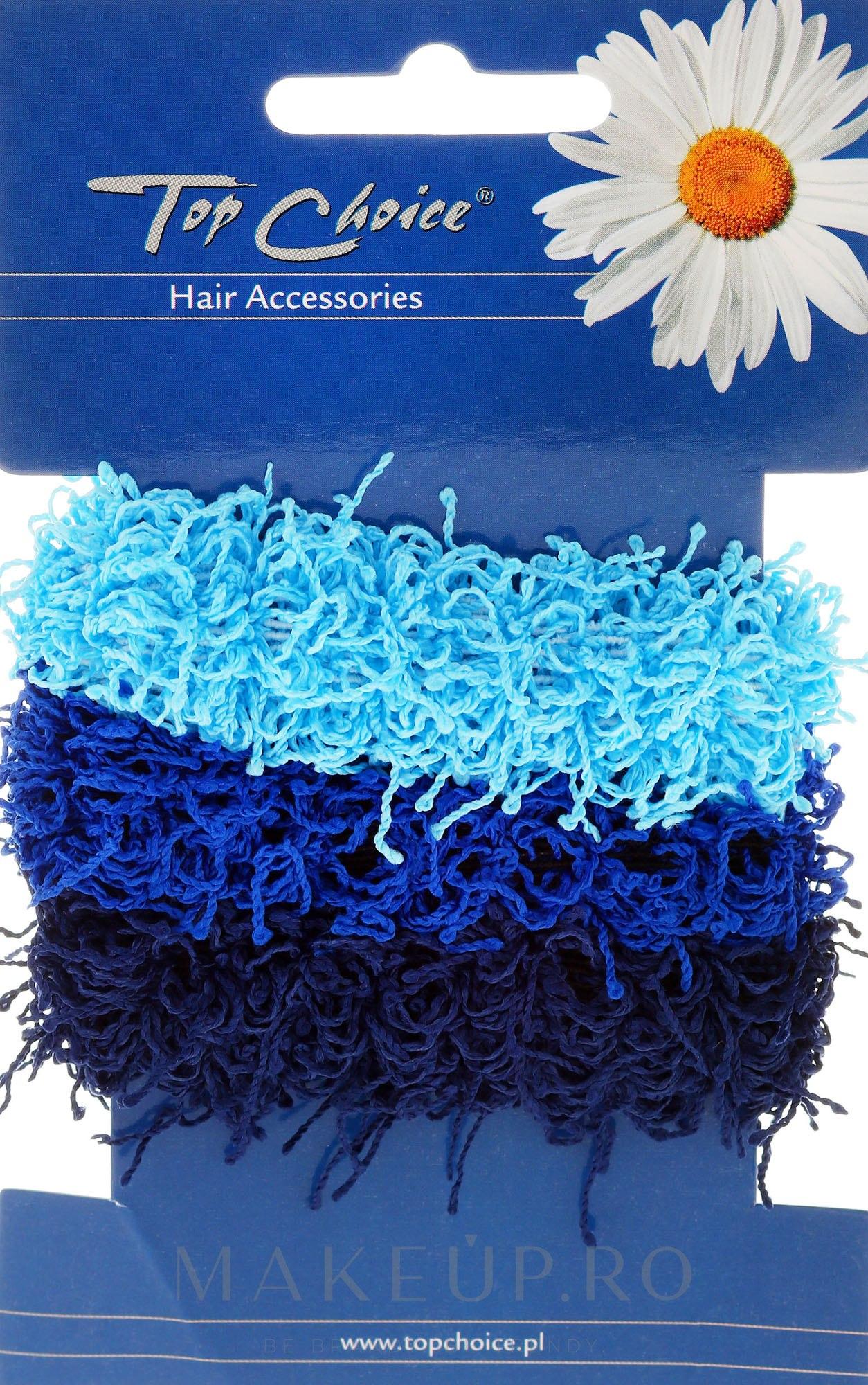 Elastice de păr 3 buc., albastre - Top Choice — Imagine 3 buc