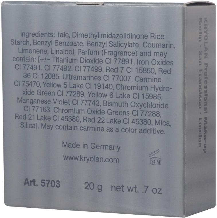Pudră translucidă fixare machiaj - Kryolan Translucent Powder — Imagine N2
