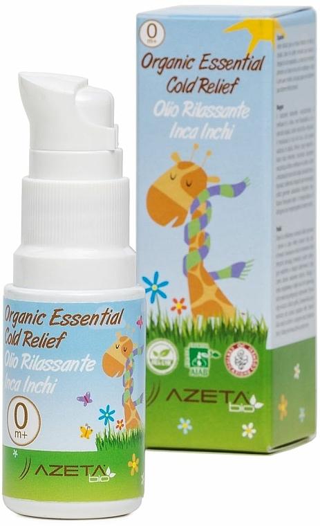 Ulei organic împotriva răcelilor - Azeta Bio Organic Essential Cold Relief — Imagine N1