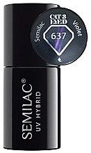 Parfumuri și produse cosmetice Lac de unghii - Semilac UV Hybrid Cat Eye 3D