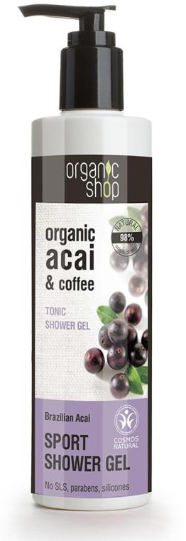 """Gel de duș """"Acai brazilian"""" - Organic Shop Organic Coffee and Acai Sport Shower Gel"""