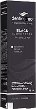 """Parfumuri și produse cosmetice Pastă de dinți """"Albire naturală"""" - Dentissimo Extra Whitening Black"""