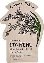 Parfumuri și produse cosmetice Mască de țesut pentru față - Tony Moly I'm Real Rice Mask Sheet
