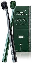 Parfumuri și produse cosmetice Periuță de dinți, moale - Swiss Smile Herbal Bliss Two Toothbrushes