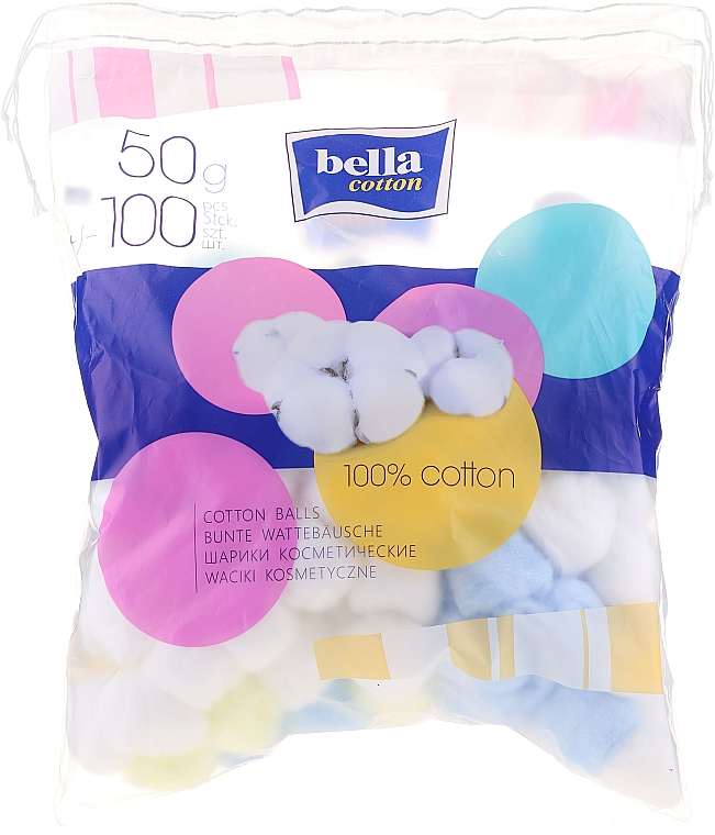 Bile de vată din bumbac - Bella Cotton Balls