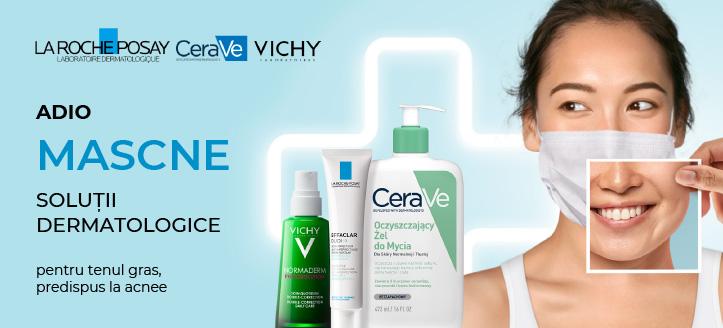 Reduceri la produsele promoționale La Roche-Posay și Vichy. Prețurile pe site sunt prezentate cu reduceri