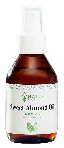 Ulei de migdale dulci cu aromă de ceai verde - Natur Planet Sweet Almond Oil Aroma Green Tea — Imagine N1