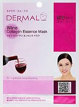 Parfumuri și produse cosmetice Masca cu extract de colagen și vin roșu - Dermal Wine Collagen Essence Mask