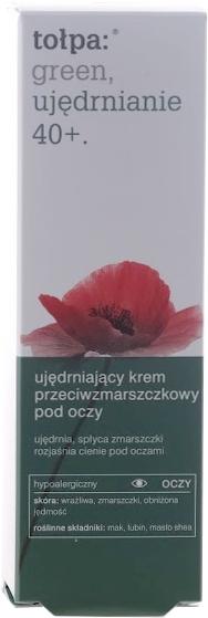 Crema antirid pentru pleoape - Tolpa Green Firming 40+ Anti-Wrinkle Eye And Eyelid Cream — Imagine N3