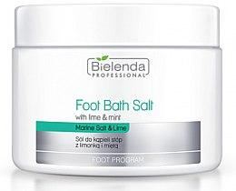 Parfumuri și produse cosmetice Sare pentru pedichiură cu lime și mentă - Bielenda Professional Foot Bath Salt with Lime & Mint