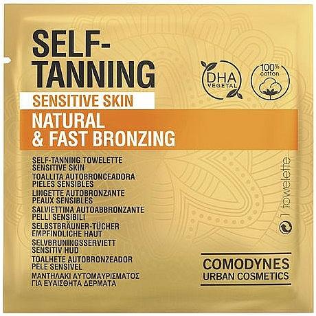 Șervețel auto-bronzat pentru piele sensibilă - Comodynes Self-Tanning Sensitive Skin — Imagine N1