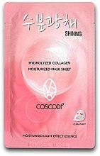 Parfumuri și produse cosmetice Mască de față - Coscodi Hydrolyzed Collagen Moisturized Mask Sheet