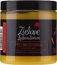 """Parfumuri și produse cosmetice Scrub cu efect de netezire pentru corp """"Morcov și Fulgi de ovăz"""" - Zielone Laboratorium"""