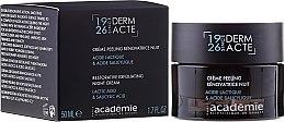 Parfumuri și produse cosmetice Cremă exfoliantă revitalizantă de noapte - Academie Peeling Renovatrice Nuit Acide Lactique & Acide Salicylique