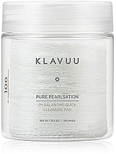 Parfumuri și produse cosmetice Peeling Pads de curățare pentru față, 100 buc - Klavuu Pure Pearlsation PH Balancing Quick Cleansing Pad