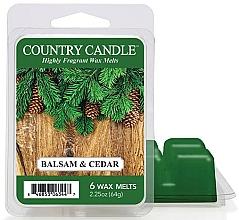 Parfumuri și produse cosmetice Ceară pentru lampă aromatică - Country Candle Balsam & Cedar Wax Melts