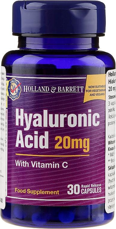 "Supliment nutritiv ""Acid hialuronic cu vitamina C 20 mg"" - Holland & Barrett Hyaluronic Acid With Vitamin C"