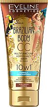 Parfumuri și produse cosmetice CC- cremă cu efect de bronz pentru corp - Eveline Cosmetics Brazilian Body Waterproof Multi Functional CC Cream