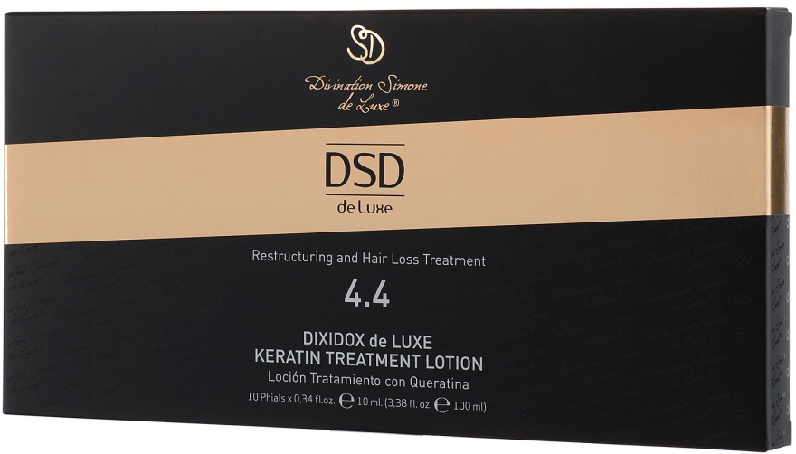 Loțiune revitalizantă cu cheratină Dixidox De Luxe N 4.4 - Divination Simone De Luxe Dixidox De Luxe Keratin Treatment Lotion — Imagine N3