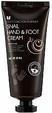 Parfumuri și produse cosmetice Cremă cu mucină de melc pentru mâini și picioare - Mizon Snail Hand And Foot Cream
