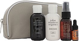 Parfumuri și produse cosmetice Set - John Masters Organics Essential Travel Kit For Dry Hair (sh/60ml + cond/60ml + volumizer/30ml + oil/3ml + bag)