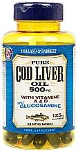 """Parfumuri și produse cosmetice Supliment alimentar """"Ulei de ficat de cod cu glucozamină"""" - Holland & Barrett Cod Liver Oil and Glucosamine"""