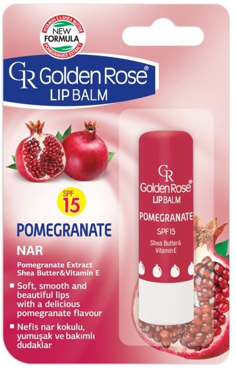 Balsam de buze - Golden Rose Lip Balm Pomegranate SPF15 — Imagine N1
