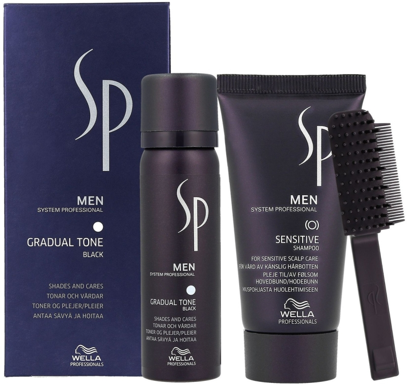 Set - Wella SP Men Gradual Tone Black (hair/mousse/60ml+shmp/30ml)