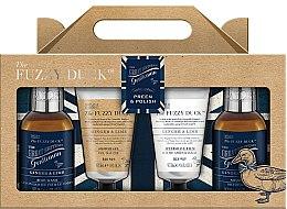 Parfumuri și produse cosmetice Set de duș Ghimbir și lime - Baylis & Harding Fuzzy Duck Men's Ginger & Lime Four Piece Set (sh/gel/50ml + ash/balm/50ml + shm/100ml + h/b/gel/100ml)