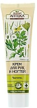 """Parfumuri și produse cosmetice Cremă hidratantă și antiseptică pentru mâini și unghii """"Chelidonium"""" - Green Pharmacy"""