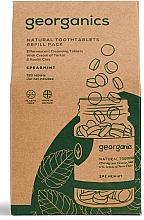 """Parfumuri și produse cosmetice Tablete apă de gură """"Mentă"""" - Georganics Mouthwash Tablets Spearmint Refill Pack (rezervă)"""