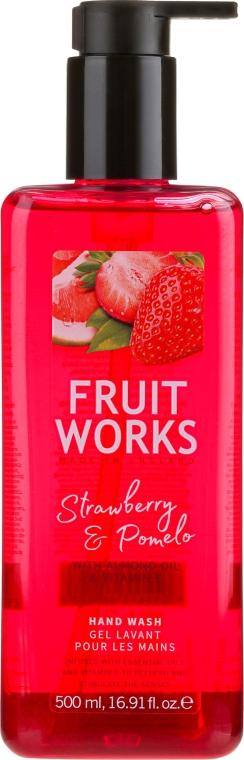 "Săpun de mâini ""Căpșune și Pomelo"" - Grace Cole Fruit Works Hand Wash Strawberry & Pomelo — Imagine N1"