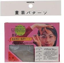 Parfumuri și produse cosmetice Șabloane pentru sprâncene, mărime A5, A6, A7, A8 - Magical Eyebrow Style