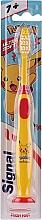 Parfumuri și produse cosmetice Periuță de dinți pentru copii, cu pokemon, galbenă - Signal Kids Ultra Soft 7+ Years