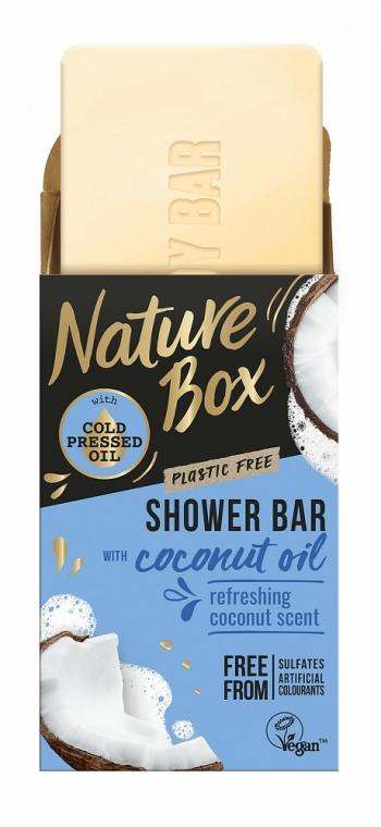 Săpun solid cu ulei de cocos pentru duș - Nature Box Coconut Oil Shower Bar — Imagine N1