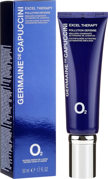 Emulsie saturată cu oxigen pentru față - Germaine de Capuccini Excel Therapy O2 Pollution Defense Emulsion — Imagine N1