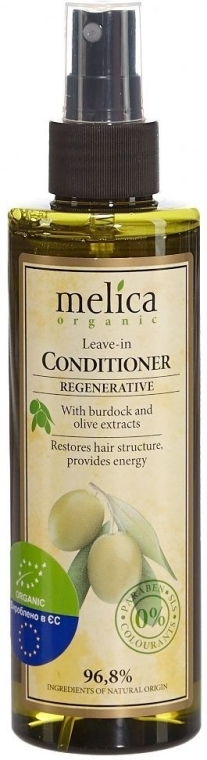 Balsam regenerant fără clătire, cu extract de brusture și măsline - Melica Organic Leave-in Regenerative Conditioner — Imagine N1