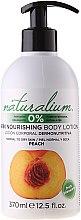 """Parfumuri și produse cosmetice Loțiune de corp nutritivă """"Peach"""" - Naturalium Body Lotion Peach"""