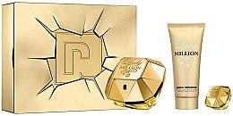 Parfumuri și produse cosmetice Paco Rabanne Lady Million - Set (edp/80ml + edp/5ml + b/lot/100ml)