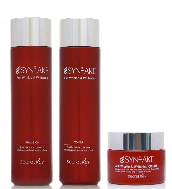 Emulsie anti-îmbătrânire pentru față - Secret Key SYN-AKE Anti Wrinkle & Whitening Emulsion — Imagine N2