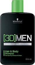 Parfumuri și produse cosmetice Șampon pentru păr și corp - Schwarzkopf Professional 3D Mension Hair & Body Shampoo