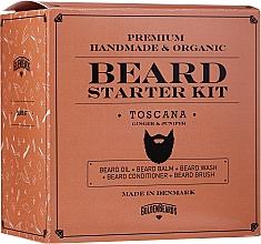 Parfumuri și produse cosmetice Set - Golden Beards Starter Beard Kit Toscana (balm/60ml + oil/30ml + shm/100ml + cond/100ml + brush)
